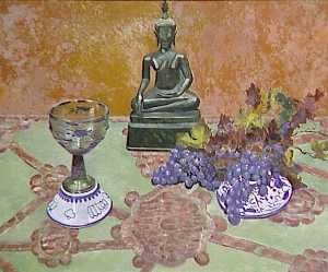 Georgette Agutte - nature morte au bouddha et raisins secs