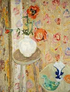William George Gillies - Coquelicots et Cretonne Chiffon