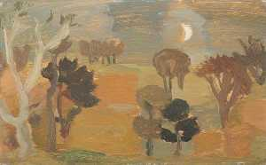 William George Gillies - frontière Paysage