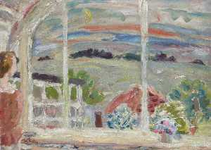 William George Gillies - Temple de l Cottage at Crépuscule ( avec janet )