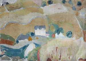 William George Gillies - paysage avec Jaunit  champs