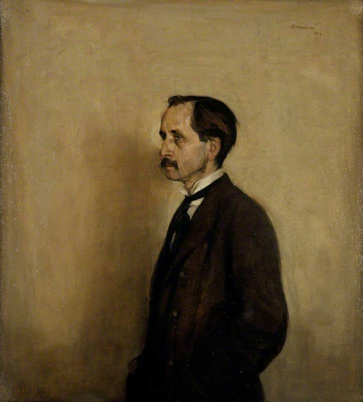Monsieur James Mathieu Barrie ( 1860–1937 ) , Auteur, huile sur toile de William Newzam Prior Nicholson (1872-1949, United Kingdom)