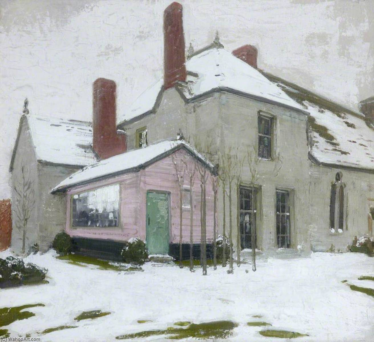 À sutton Veny dans la neige, 1924 de William Newzam Prior Nicholson (1872-1949, United Kingdom) | Copie Tableau | WahooArt.com