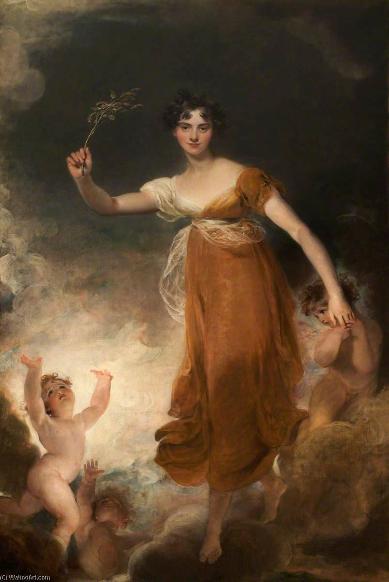 georgiana maria leicester ( 1793–1859 ) , lady de tabley , que `Hope` de Thomas Lawrence (1769-1830, United Kingdom) | Reproduction Peinture | WahooArt.com