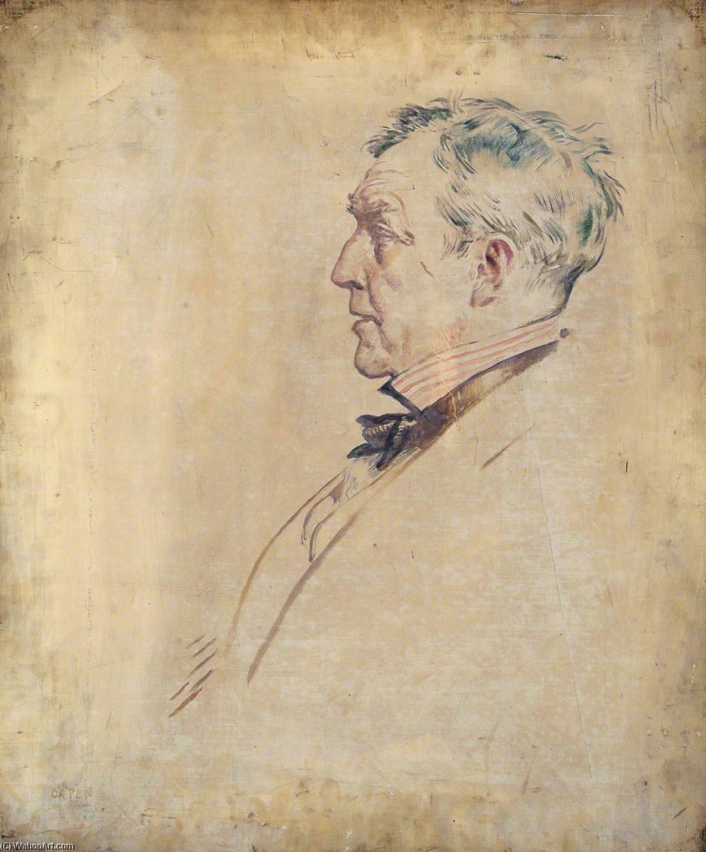 De joseph Thompson, huile sur toile de William Newenham Montague Orpen (1878-1931, Ireland)