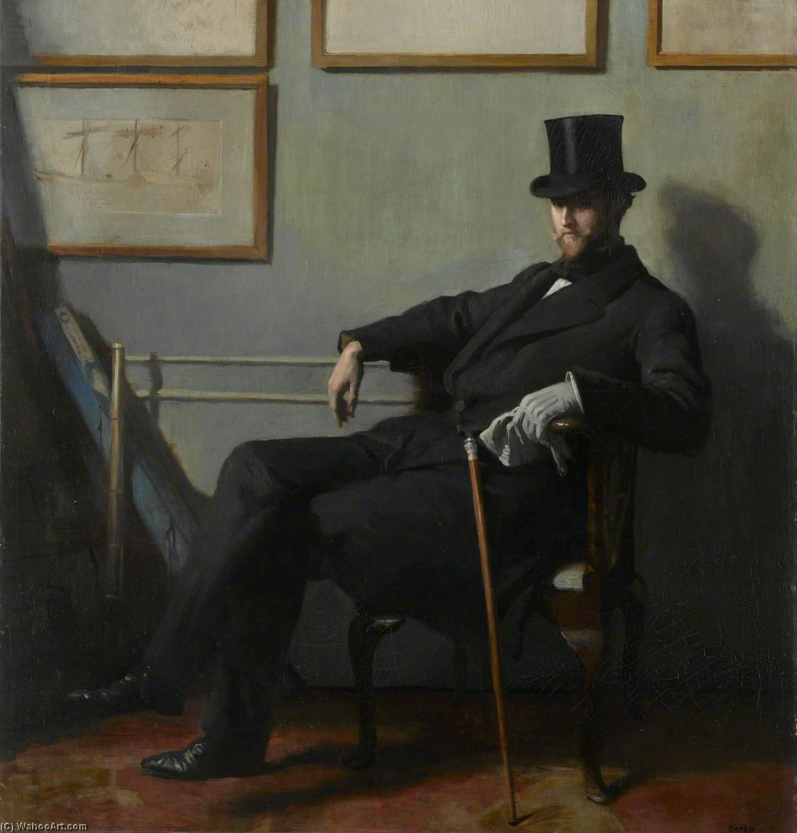 herbert barnard john everett ( 1877–1949 ), huile sur toile de William Newenham Montague Orpen (1878-1931, Ireland)