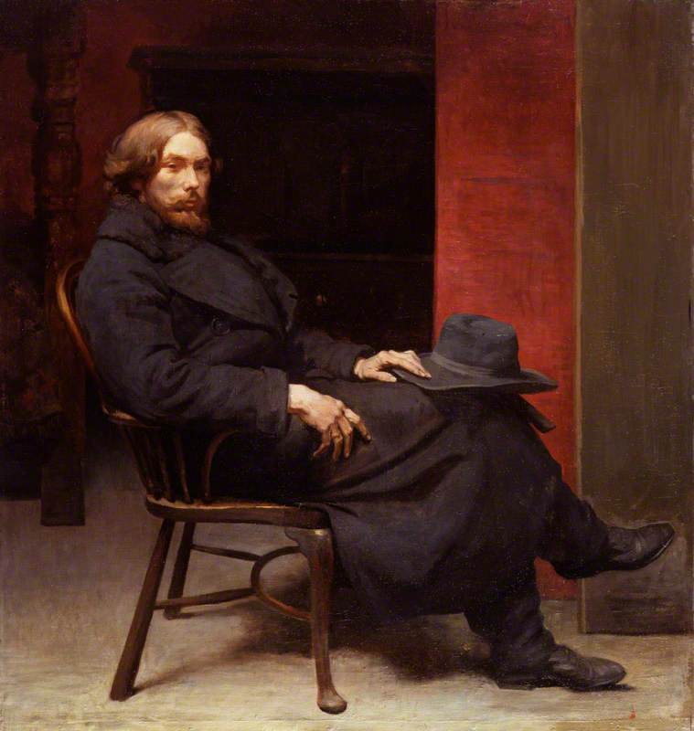 augustus john, 1900 de William Newenham Montague Orpen (1878-1931, Ireland) | Reproductions De Peintures Célèbres | WahooArt.com