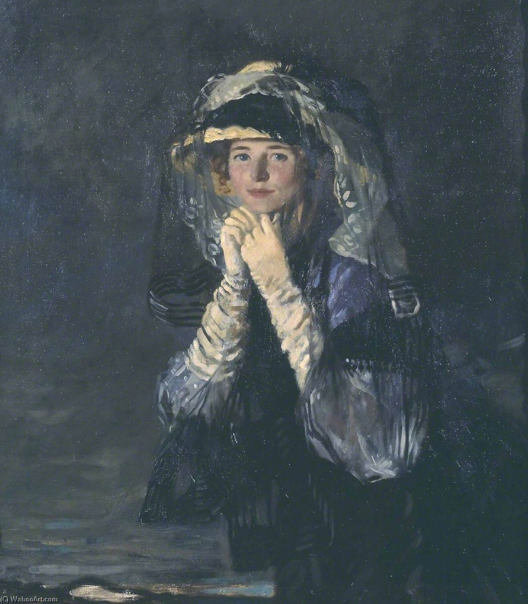 lady orpen, huile sur toile de William Newenham Montague Orpen (1878-1931, Ireland)