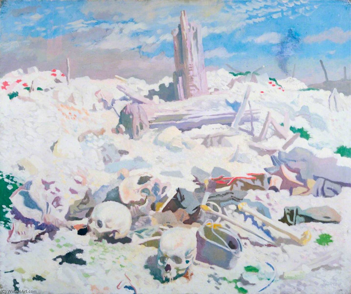 Thiepval, huile sur toile de William Newenham Montague Orpen (1878-1931, Ireland)