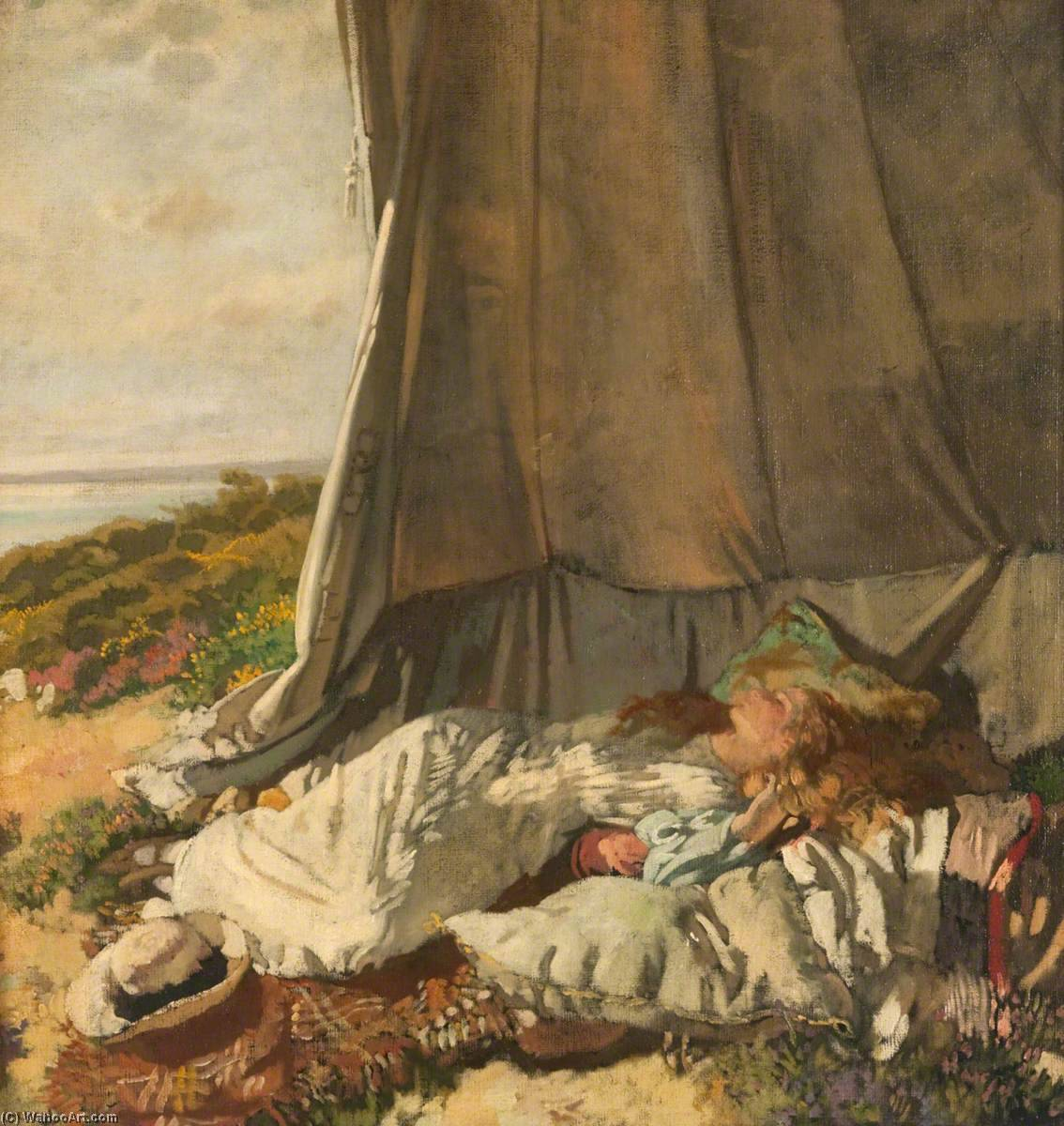 laprès midi couchent , 1912 de William Newenham Montague Orpen (1878-1931, Ireland) | Reproductions De Peintures William Newenham Montague Orpen | WahooArt.com