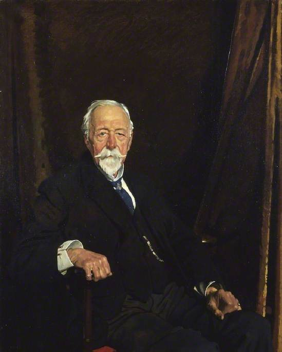 le droit Honorable Monsieur clifford allbutt, huile sur toile de William Newenham Montague Orpen (1878-1931, Ireland)