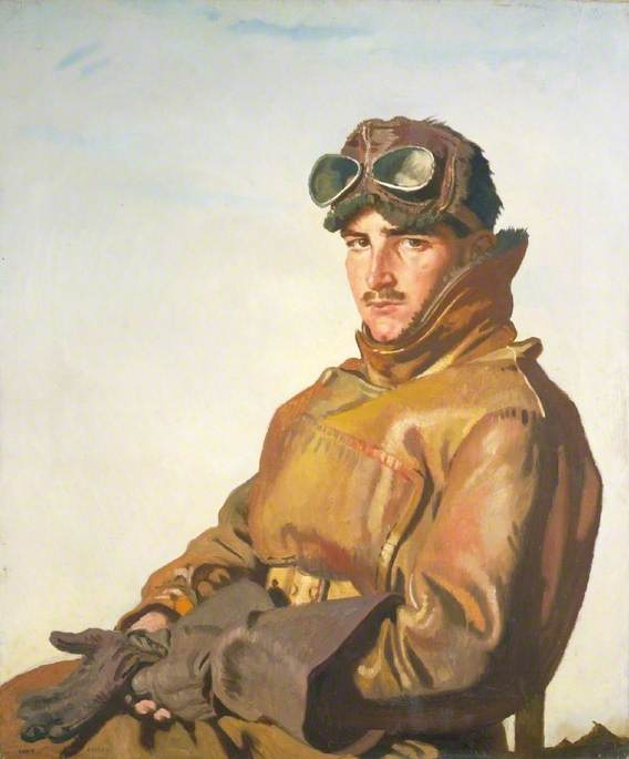 Une Aviateur le lieutenant reginald theodore carlos hoidge ( 1894–1963 ) , MC, huile sur toile de William Newenham Montague Orpen (1878-1931, Ireland)