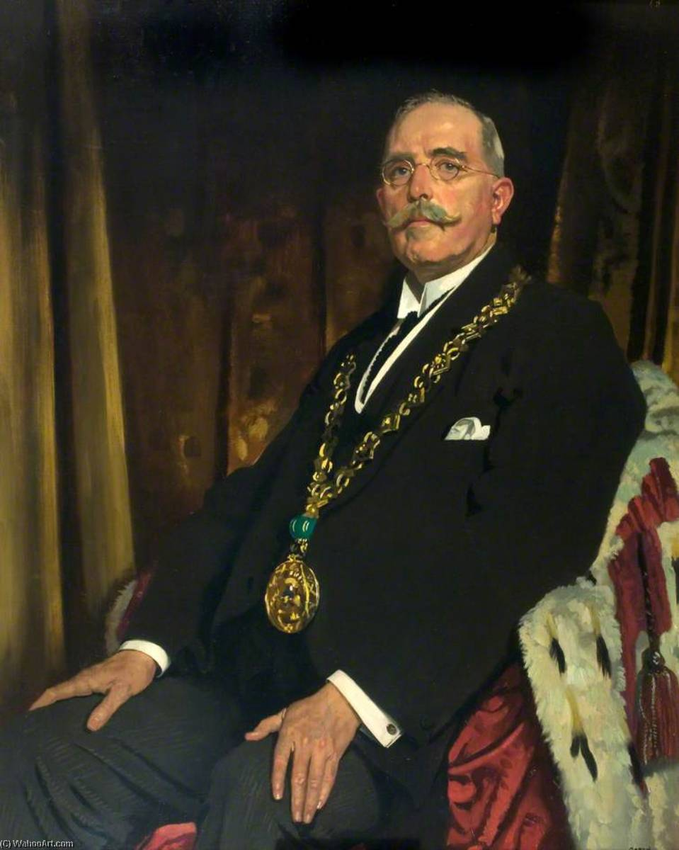 Monsieur Alexandre Spence ( 1866–1939 ) , lord provost de dundee ( 1920–1923 ), huile sur toile de William Newenham Montague Orpen (1878-1931, Ireland)