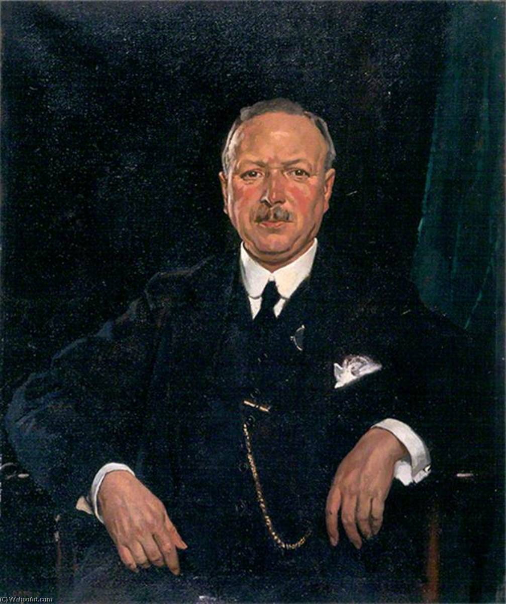 Monsieur thomas jaffrey , Bt , LLD , Président de Aberdeen galerie dart Comité ( 1928–1951 ), 1920 de William Newenham Montague Orpen (1878-1931, Ireland) | Reproductions De Qualité Musée | WahooArt.com