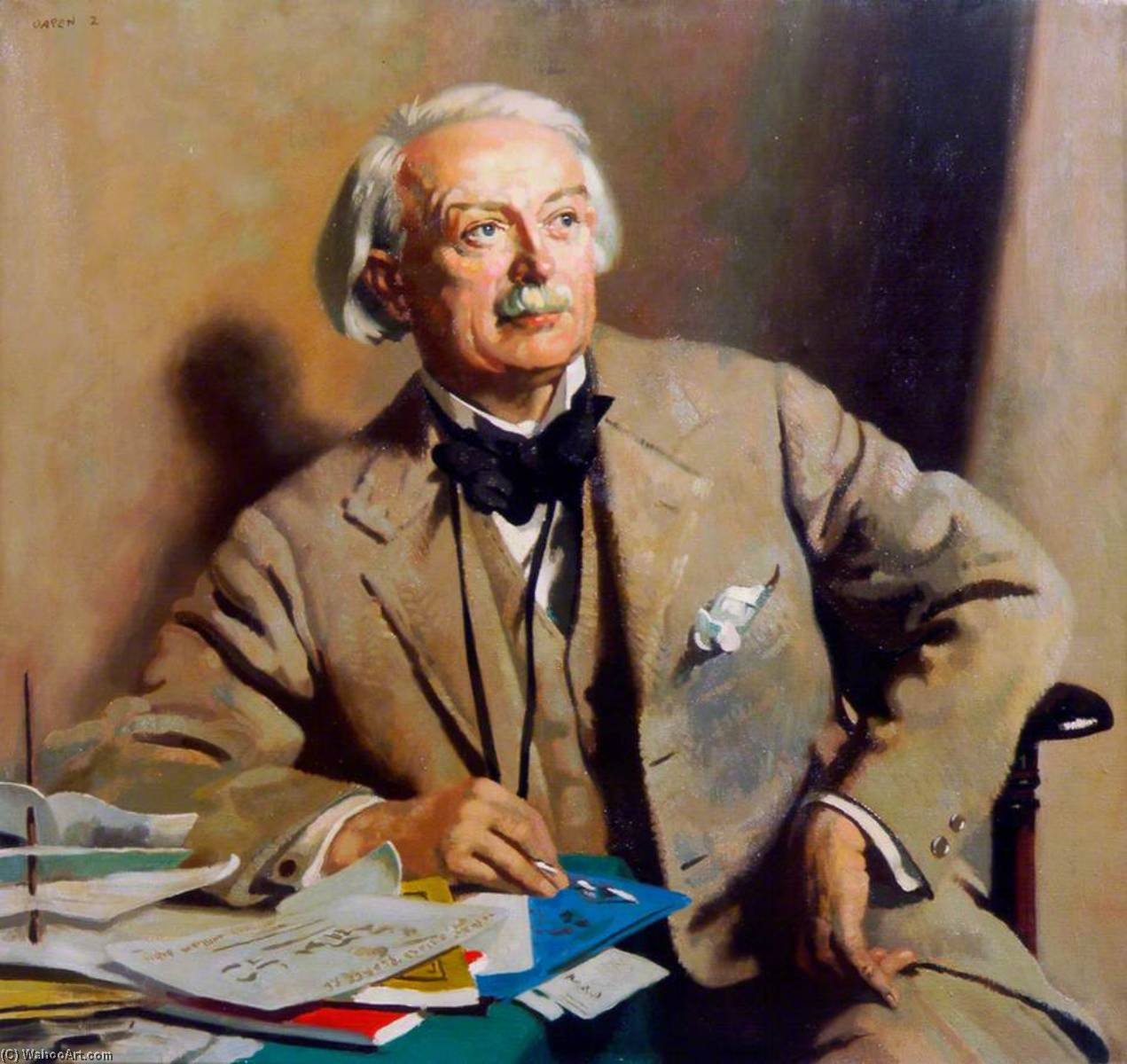 david lloyd george ( 1863–1945 ) , 1st Comte lloyd george de Dwyfor , Premier Ministre, huile sur toile de William Newenham Montague Orpen (1878-1931, Ireland)