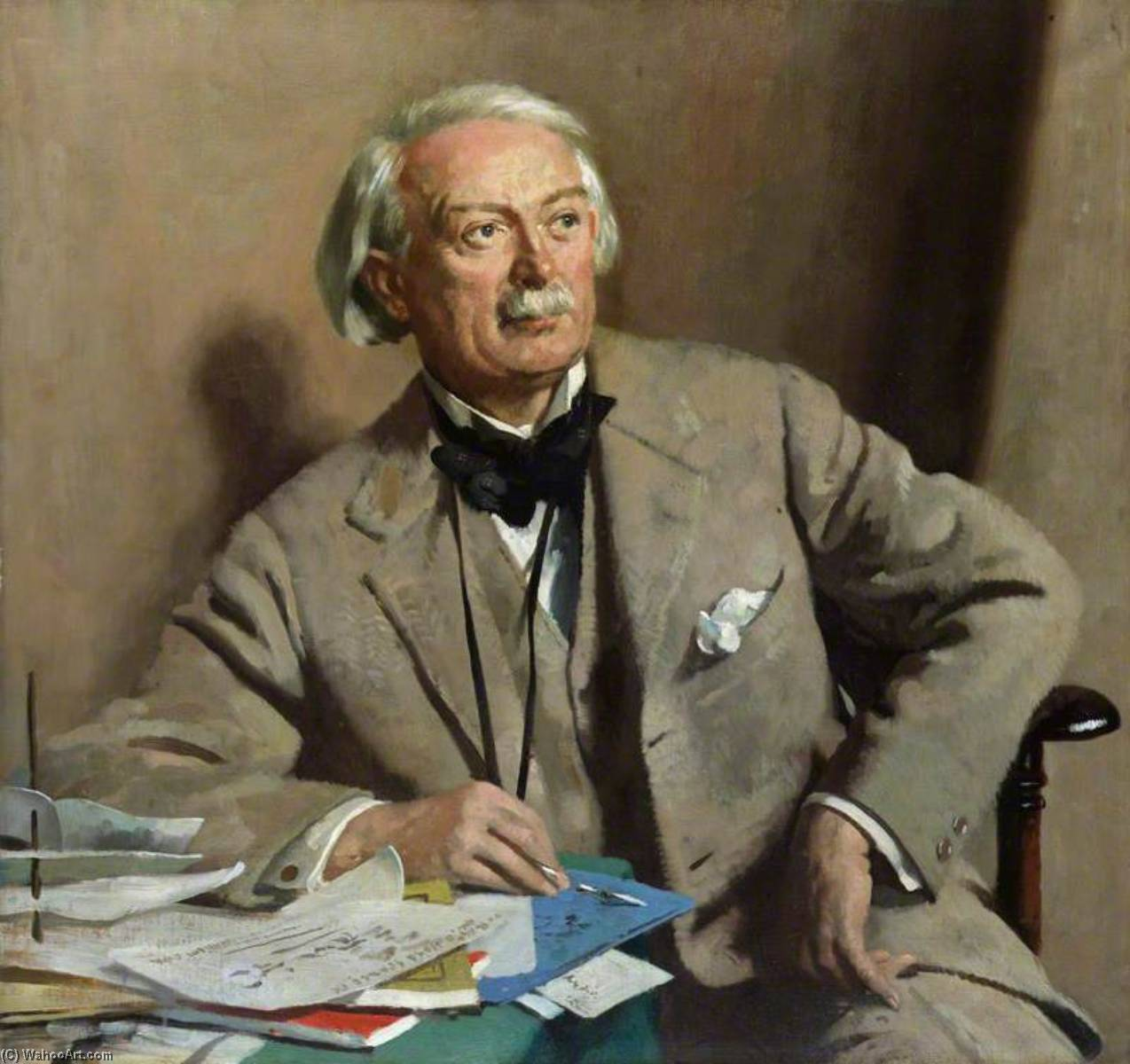 david lloyd george , 1st Comte lloyd george, 1927 de William Newenham Montague Orpen (1878-1931, Ireland) | Reproductions D'art William Newenham Montague Orpen | WahooArt.com