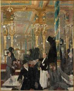 William Newenham Montague Orpen - LE CAFÉ ROYAUX Une LONDRES