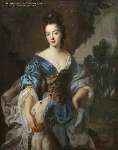 Jean François De Troy - lady mary herbert ( 1659–1744 1745 ) , Vicomtesse Montagu , Auparavant Honorable lady richard molyneux , et ensuite lady maxwell , comme diana