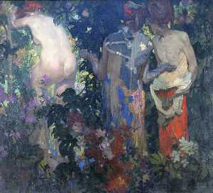 Frank William Brangwyn - Suzanne et les vieillards