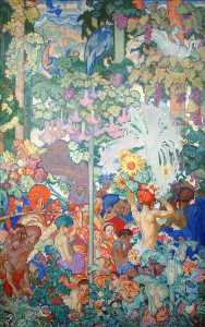 Frank William Brangwyn - Empire britannique lambris  10   Inde