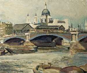 Ronald Ossory Dunlop - St Paul's , Blackfriars Pont , Londres