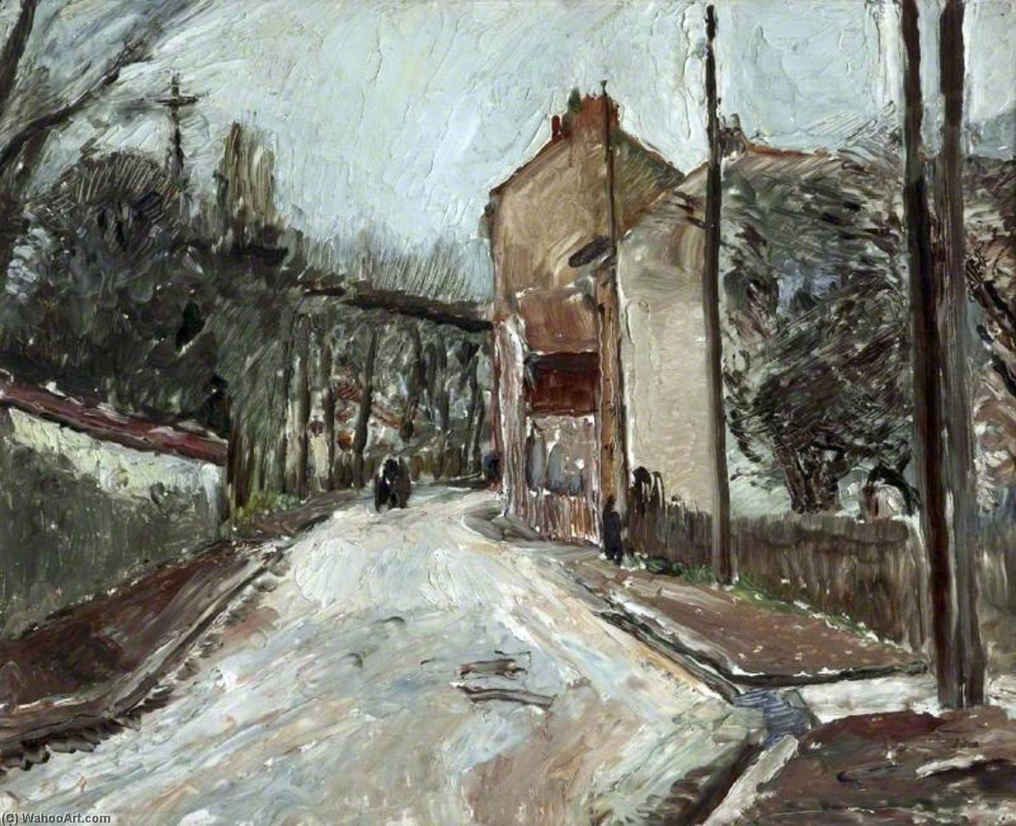Neuilly , France, huile sur toile de Ronald Ossory Dunlop (1894-1973, Ireland)