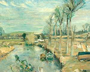 Ronald Ossory Dunlop - Une Sussex Paysage