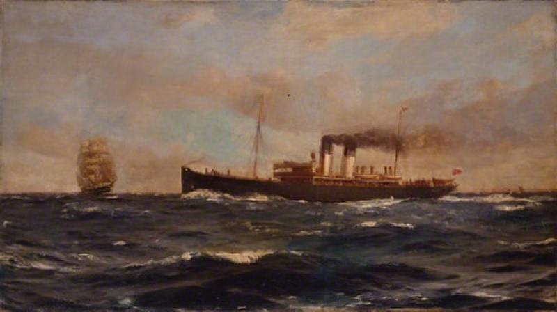 SS 'Immingham', 1906 de Thomas Jacques Somerscales (1842-1927) | WahooArt.com