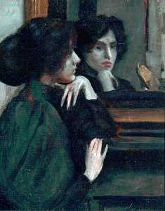 Philip Wilson Steer - le mantelpiece ( ethel dixon )