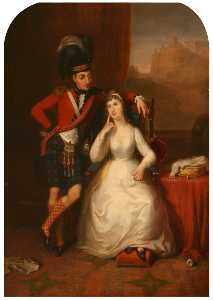 James Giles - Mariage Portrait de le lieutenant-colonel james stewart pour williamina kerr , 1803
