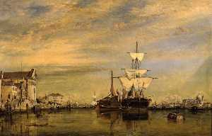 Edward William Cooke - Canal de l Giudecca , Venise