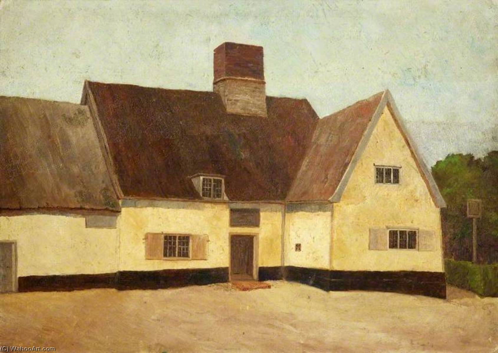 Le 'King's Head' , Yoxford, Huile de Charles Paget Wade (1883-1956, United Kingdom)