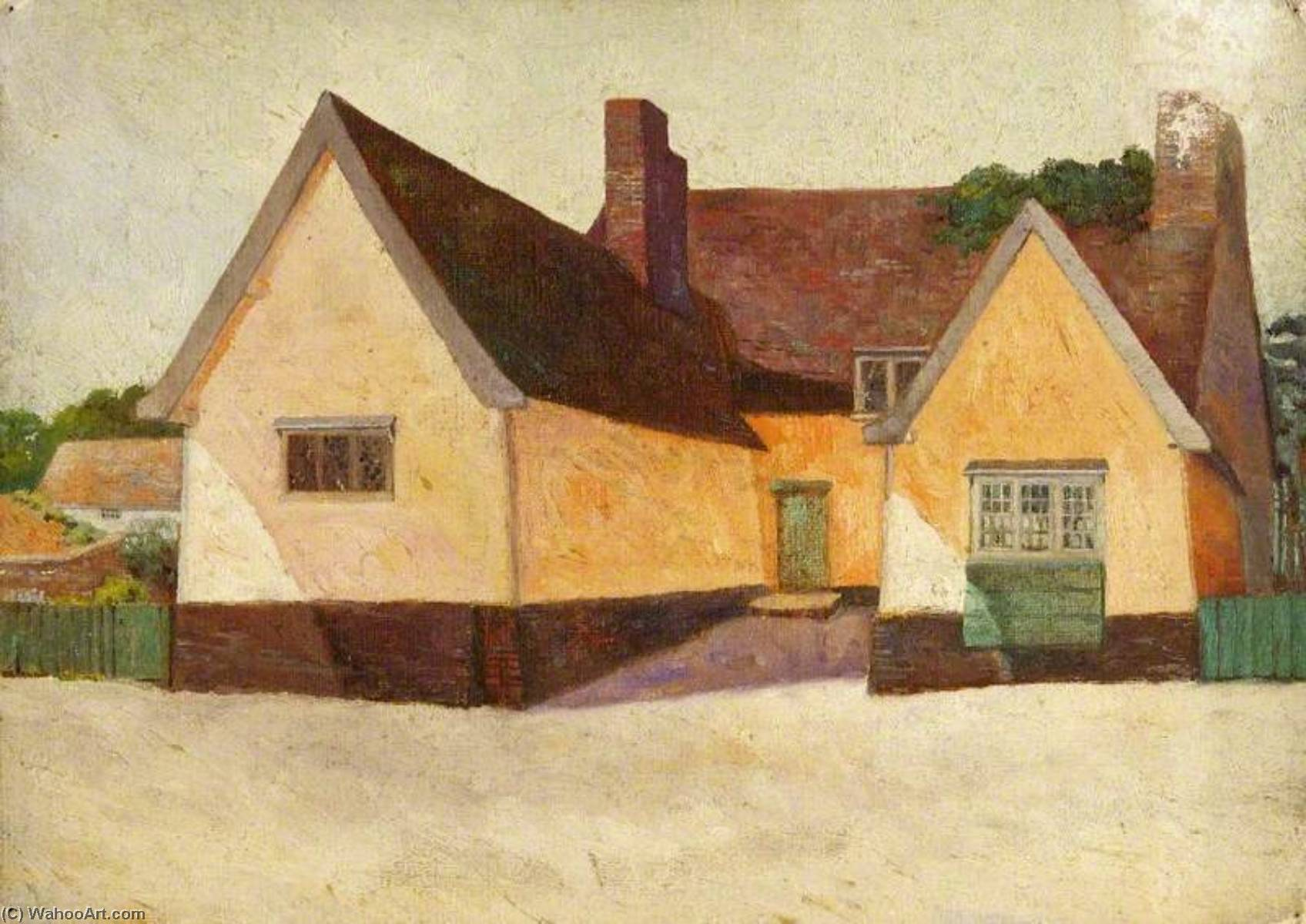 Clement's Chalet , Yoxford, Huile de Charles Paget Wade (1883-1956, United Kingdom)