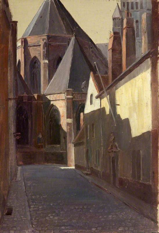 saint sauveur , De bruges, 1914 de Charles Paget Wade (1883-1956, United Kingdom) | Reproductions D'art Sur Toile | WahooArt.com