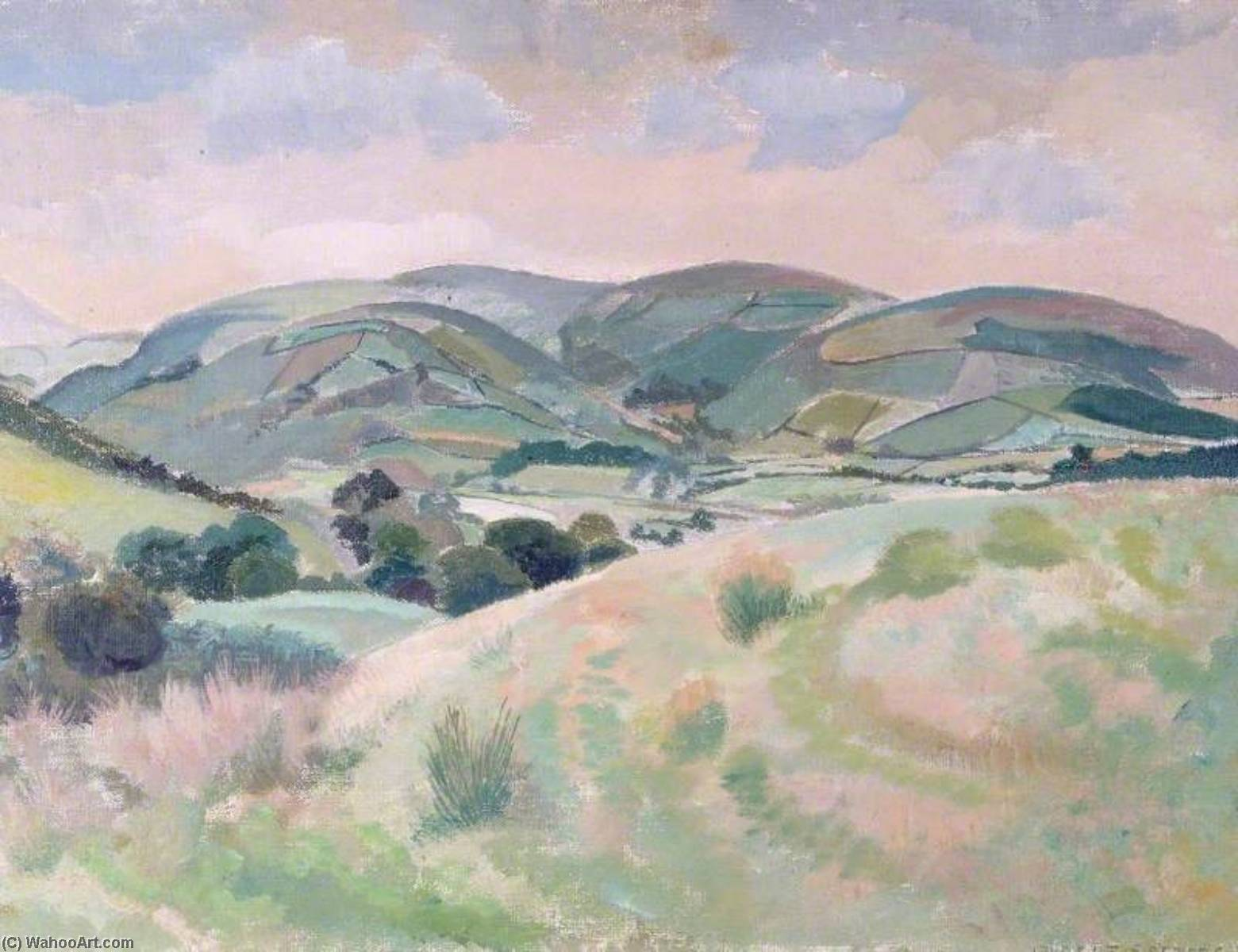Bryn og, 1952 de Gilbert Spencer (1892-1979, United Kingdom) | Reproduction Peinture | WahooArt.com