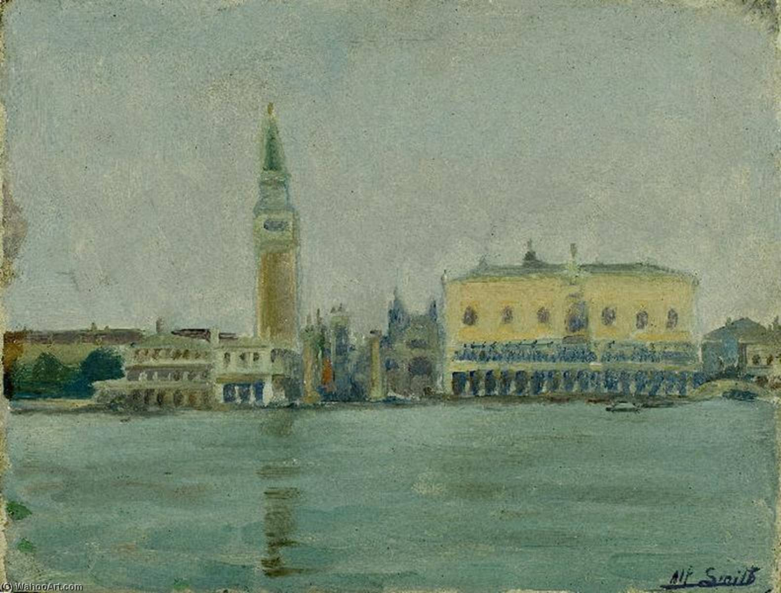 Venise matin brumeux de Smith Alfred (1853-1936, France) | Reproductions D'art Smith Alfred | WahooArt.com