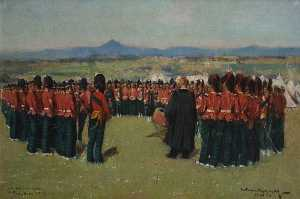 William Joseph Kennedy - Église Grande parade de l 3rd battallion argyll et sutherland Montagnards