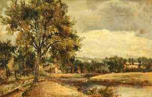 Frederick Waters (William) Watts - une Bord de l'eau