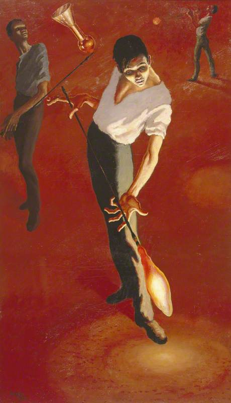 the glassblower, huile sur toile de Peake Mervyn (1911-1968, China)