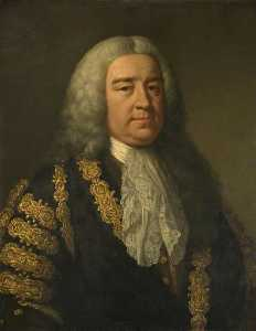 John Shackleton - le droit Honorable Henri Pelham ( c . 1695–1754 )