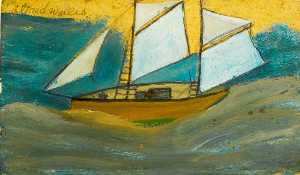 Alfred Wallis - navire rugueux  mer