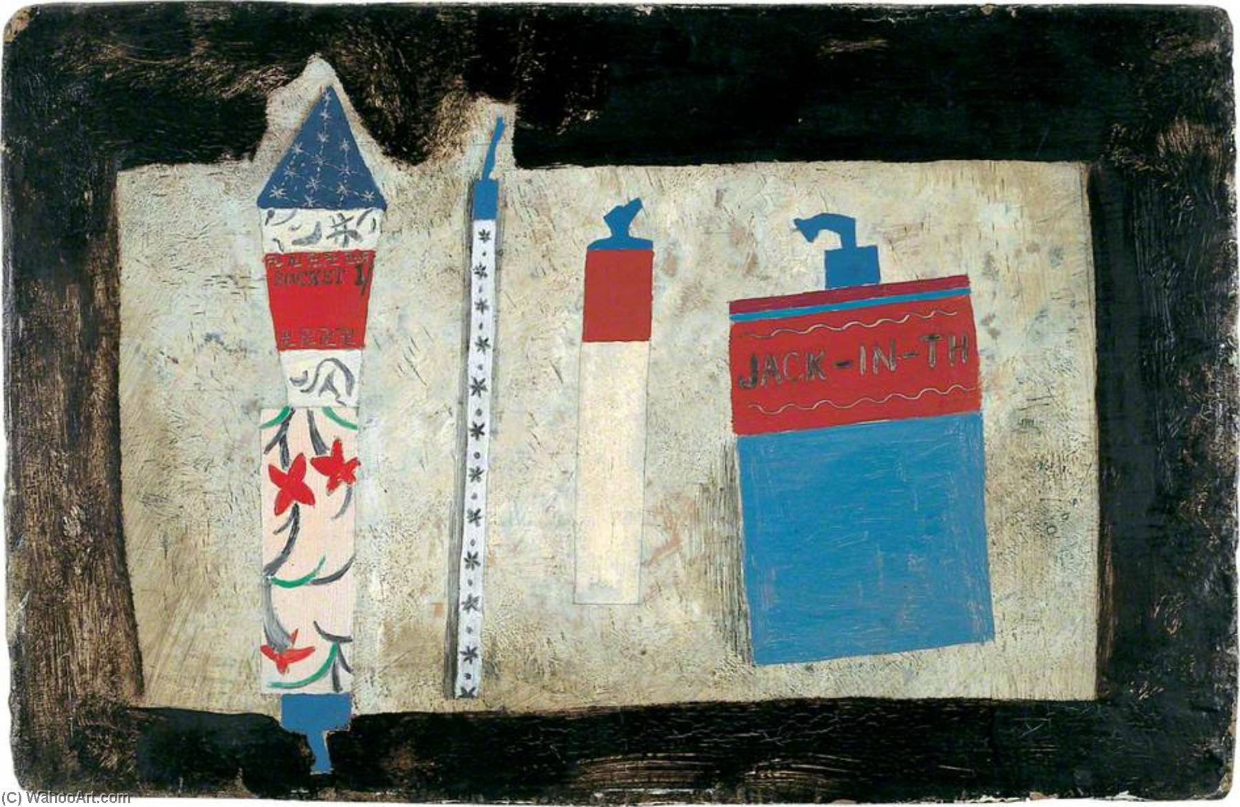 1929  feux dartifice , Huile de Ben Nicholson (1894-1982, United Kingdom)
