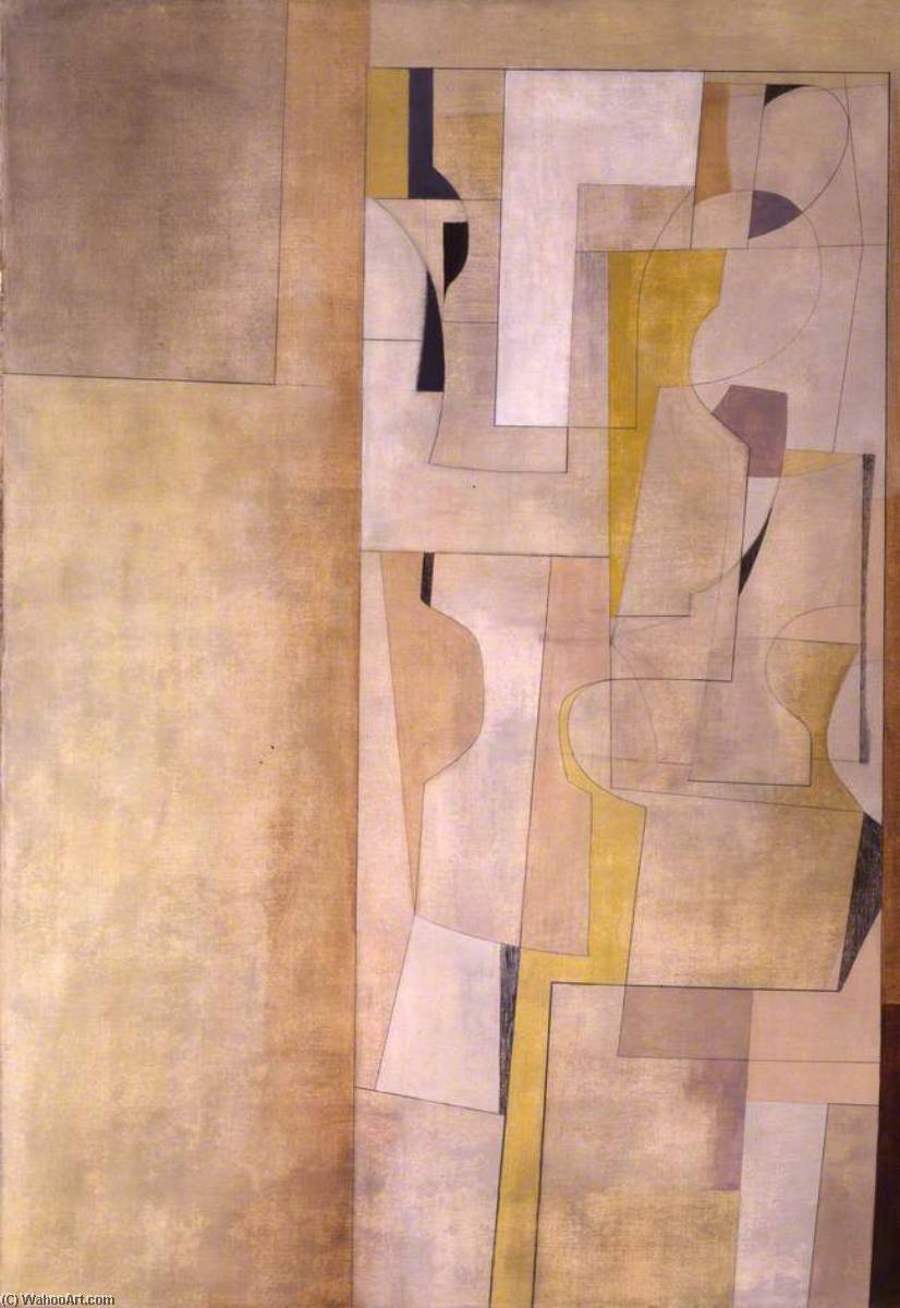 Marchera 1949 ( Trencrom ), 1949 de Ben Nicholson (1894-1982, United Kingdom) | Copie Tableau | WahooArt.com