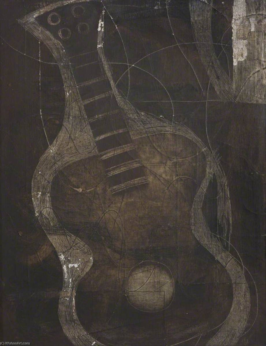 1933  guitare , 1933 de Ben Nicholson (1894-1982, United Kingdom) | Reproduction Peinture | WahooArt.com
