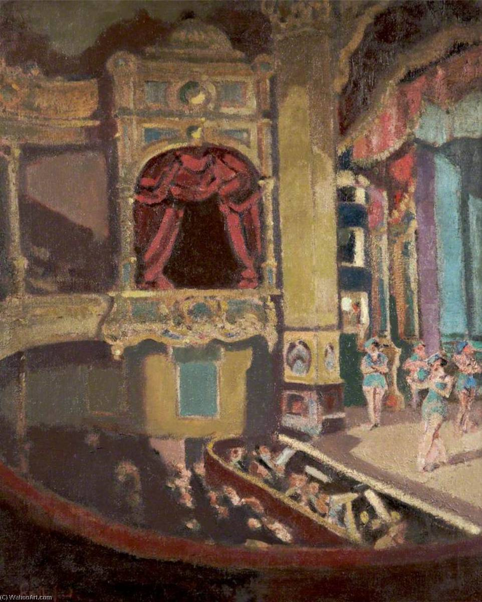 théâtre royal , Hyde , Tameside, 1926 de Harry Rutherford | Reproductions D'art De Musée Harry Rutherford | WahooArt.com