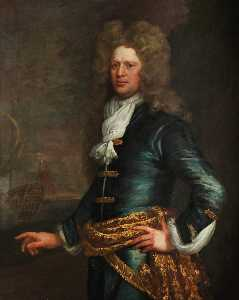 Jonathan Richardson The Elder - Amiral Monsieur john balchen ( 1670–1744 )