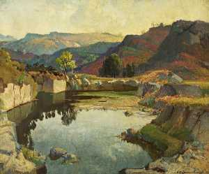 Samuel John Lamorna Birch - The Quarry Piscine