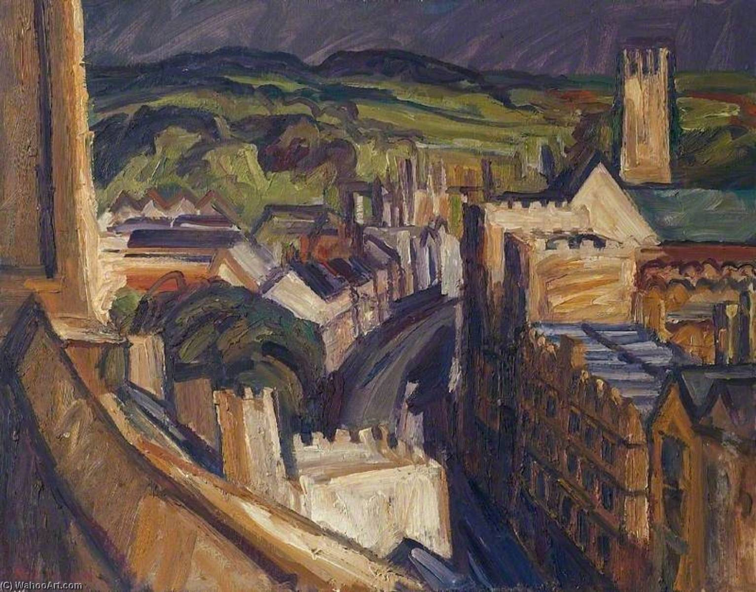 le high street , Oxford, Huile de Nick Schlee