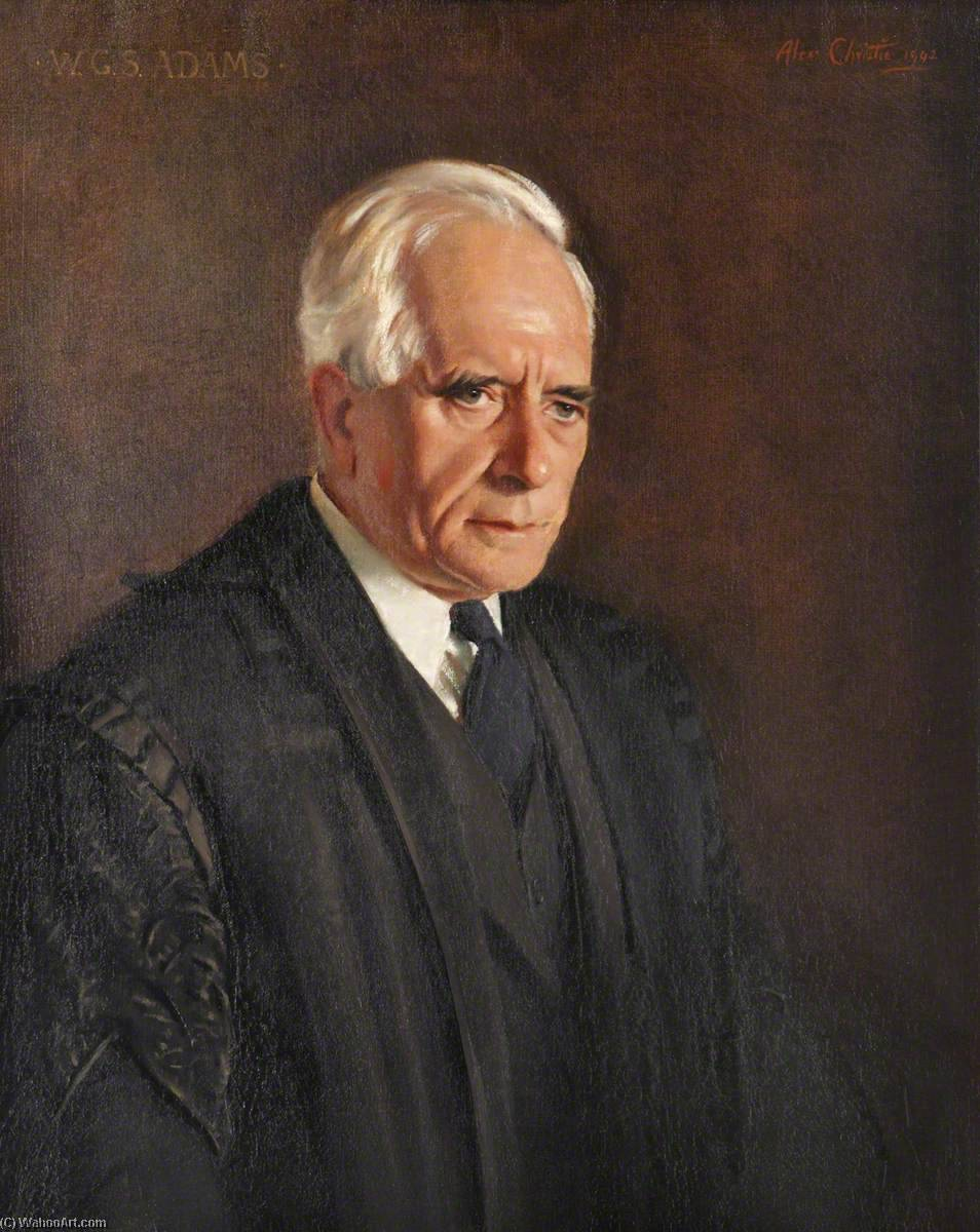 william george stewart adams ( 1874–1966 ), 1942 de Alexander Christie | Reproductions D'art De Musée Alexander Christie | WahooArt.com