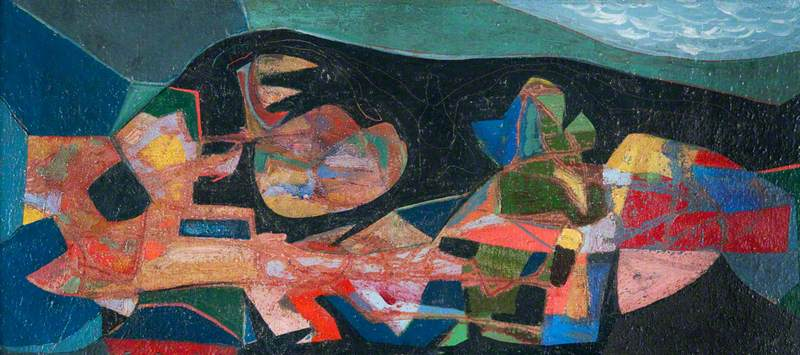 Paysage mysterieux, 1948 de William Gear (1915-1997, United Kingdom) | Reproductions D'art Sur Toile | WahooArt.com